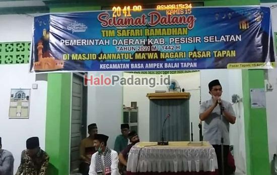 Kunjungi Masjid Tapan, Wakil Bupati Tetap Ingatkan Soal Covid-19 1