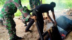 Tak Cuma Jago Perang, Tentara di Kabupaten Limapuluh Kota ini Juga Pintar Malamang 2