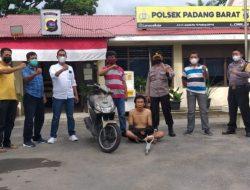 Polisi Amankan Seorang Pelaku Curanmor di Padang